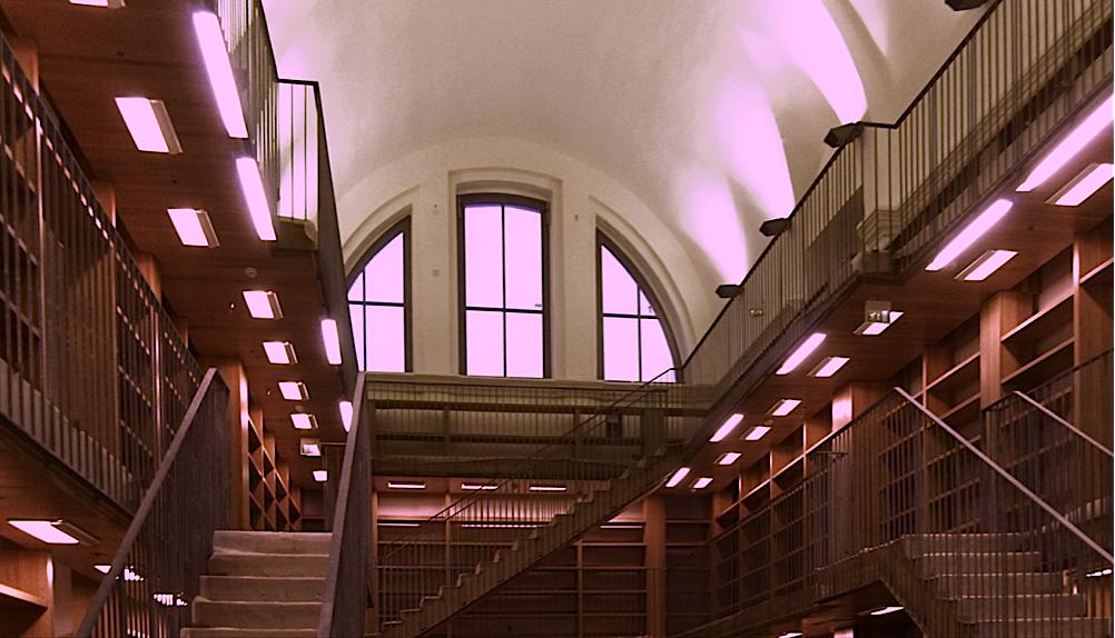 Biblioteca del S.Chiara durante un sopralluogo, Novembre 2011